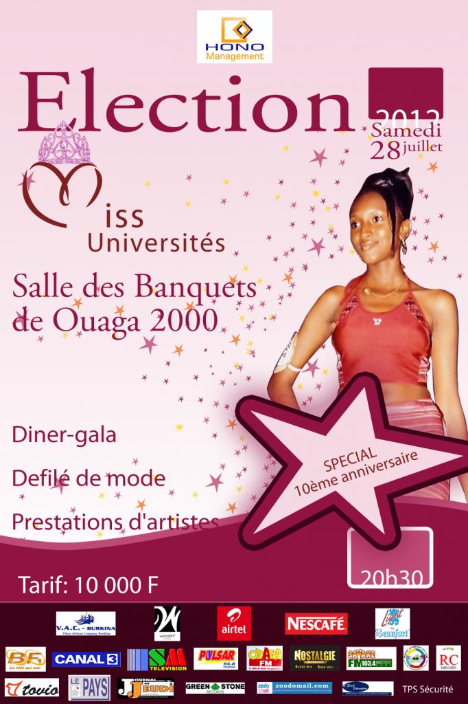 Miss burkina université 2012