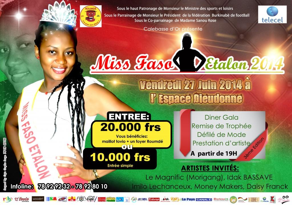 MISS FASO ETALON 2014 - Ouaga